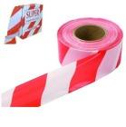 Sperrebånd plast Rød/Hvit 500m