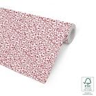 Julegavepapir 100cm Bloom, rød & sølv, dobbelsidig 8kg/100m 25872-100