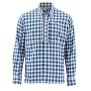 Simms BugStopper Shirt Plaid Admiral Blue