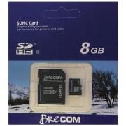 Brecom Minnekort Micro SD m/ adapter 8 GB