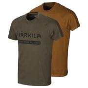 Härkila Logo T-Shirt 2-Pack Willow Green/Rustique Clay