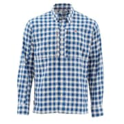 Simms BugStopper Shirt Plaid Admiral Blue