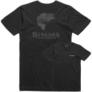 Simms Bass Hex Flo Camo T-Shirt Black