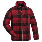Pinewood Kanada Fleeceskjorte Barn Rød/Svart