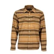 Simms Gallatin Flannel Shirt Dark Bronze Stripe