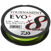 Daiwa Tournament X8 Braid Evo+ 135m Chatreuse