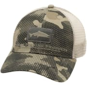 Simms Salmon Icon Trucker Hex Flo Camo Timber