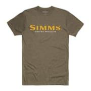 Simms Simms Logo T-Shirt Olive Heather