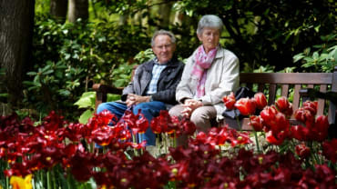 Couple at Keukenhof