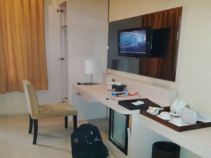 Salah satu sudut di kamar 101, Hotel Rose In, Bantul