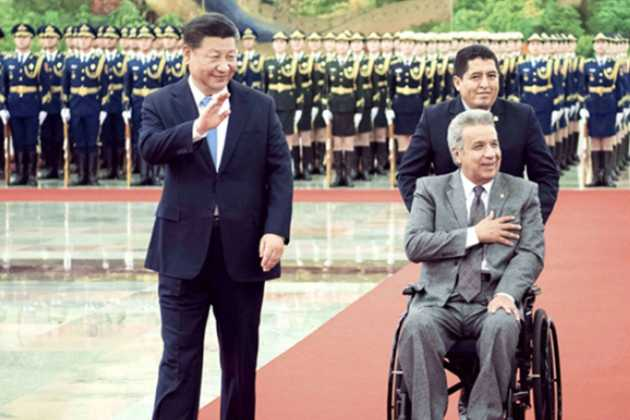 Xi Jinping and Lenin Moreno