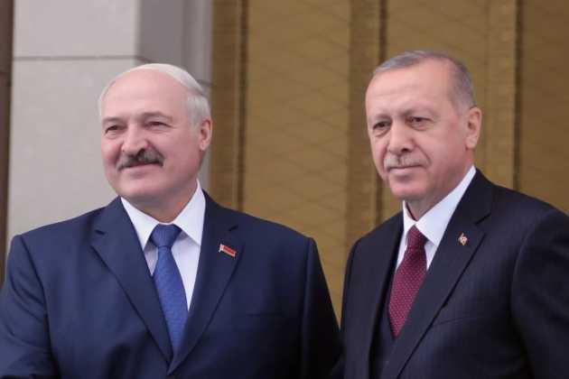 Alexander Lukashenko and Recep Tayyip Erdogan