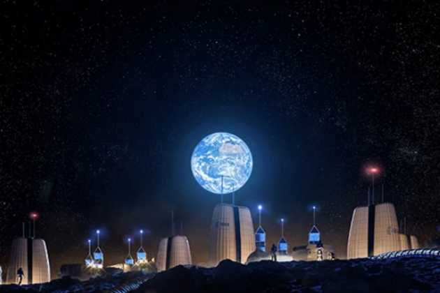 village on the moon