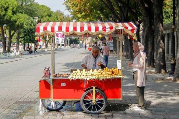 Turkey street scene