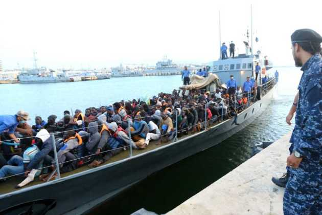 Migrant ship in Italy