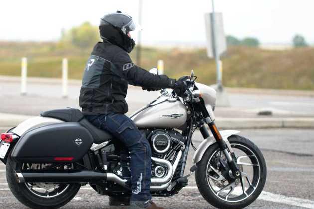 Small Harley-Davidson motorcycle