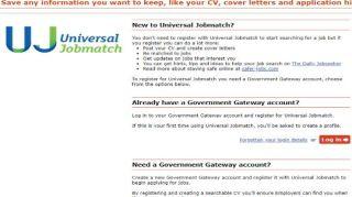 Uk login jobmatch universal Universal Jobmatch