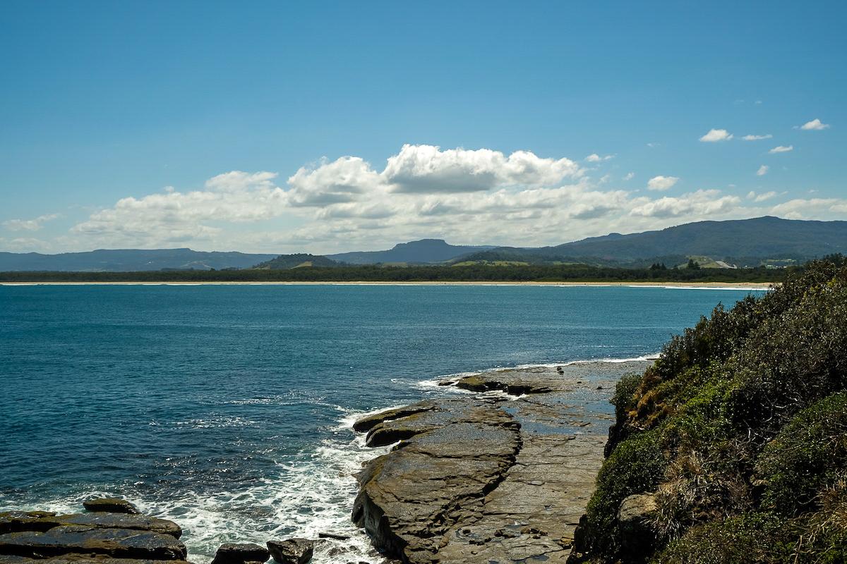 Black Head lookout onto 7 mile beach