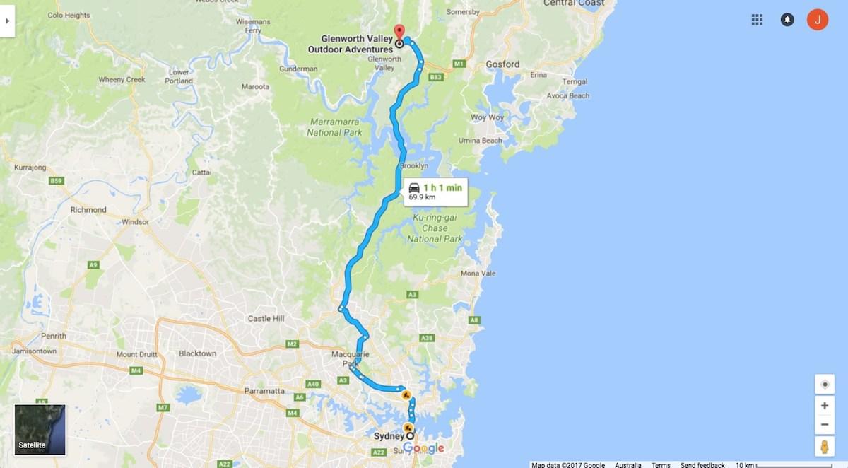 Sydney to Glenworth Valley