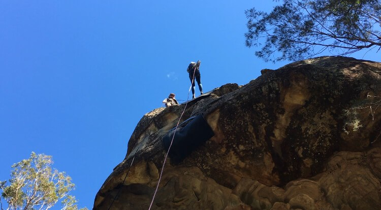 Abseiling Second Cliff