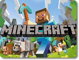 Écran d'accueil du jeu Minecraft