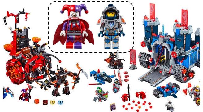 Figurines des Lego Nexo Knights