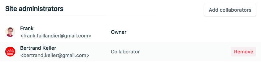 Configuration de l'accès au site Netlify