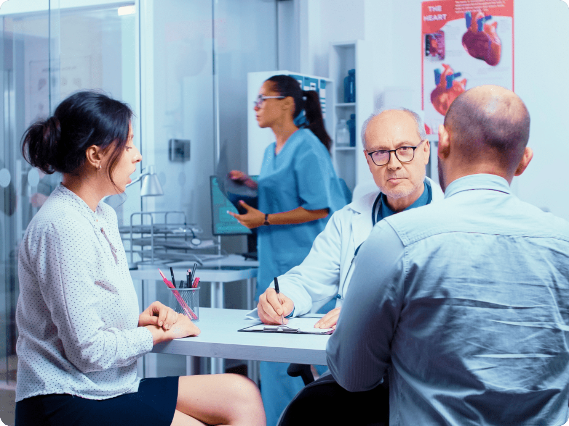 Doctor with couple discussing personalized anp plan