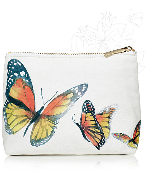 butterfly cosmetic bag shop now