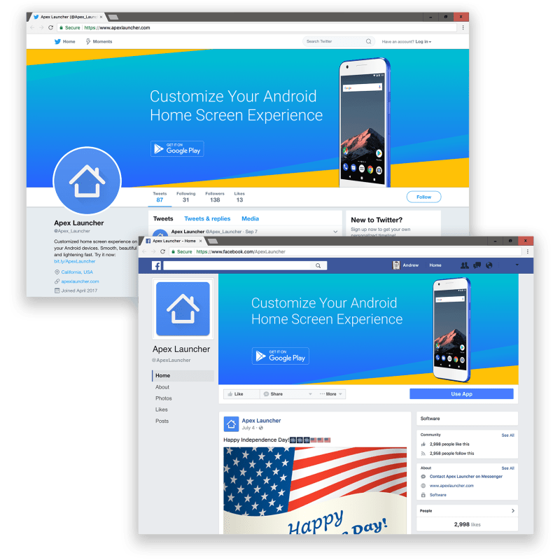 Apex Launcher social media artwork