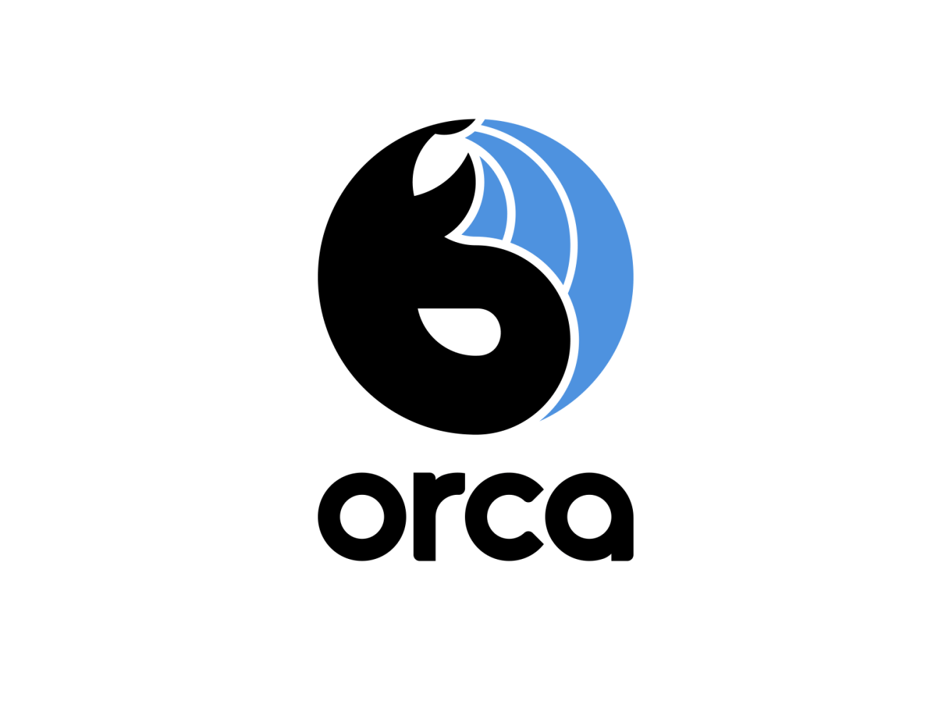 A logo designed for Orca, a marketing automation app