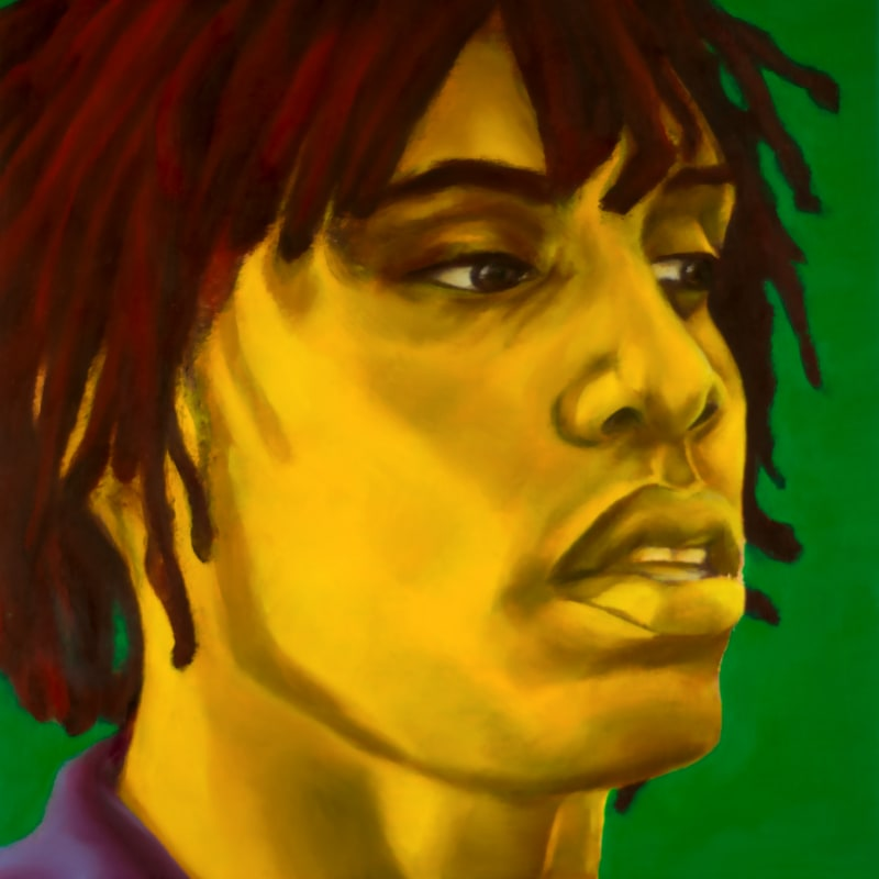 An oil portrait of Chief Keef