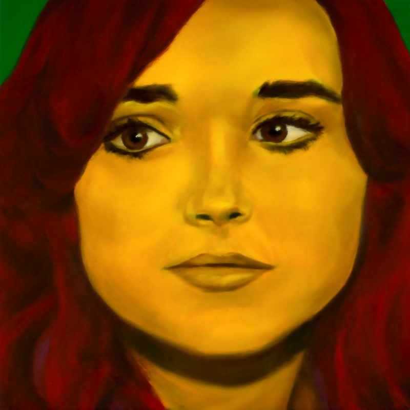An oil portrait of Ellen Page