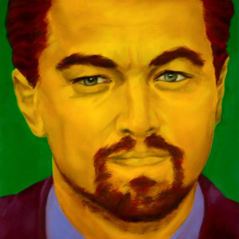 An oil portrait of Leonardo DiCaprio