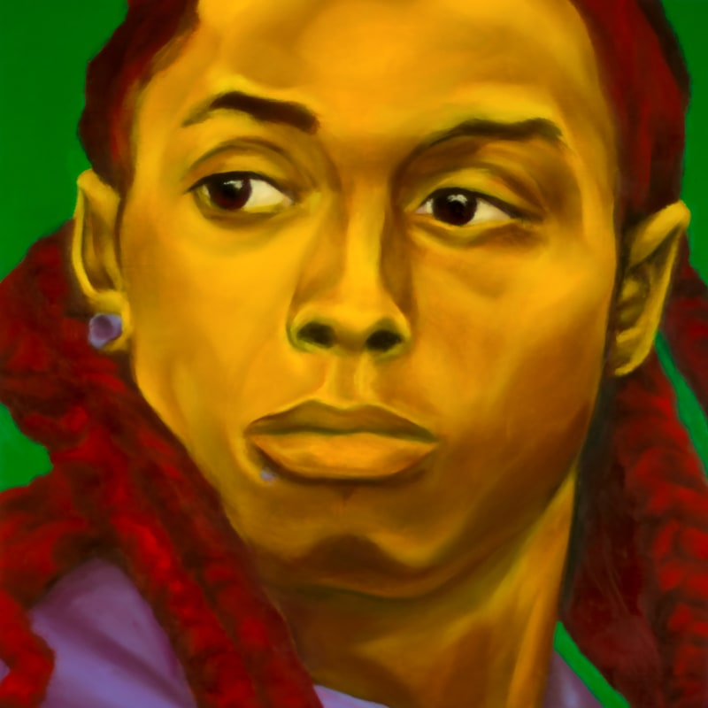 An oil portrait of Lil Wayne