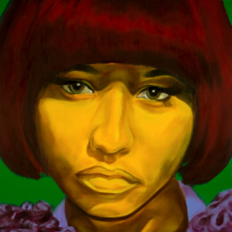 An oil portrait of Nicki Minaj