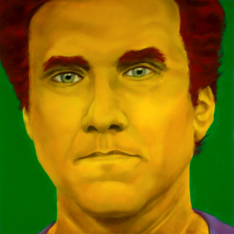 An oil portrait of Will Ferrell