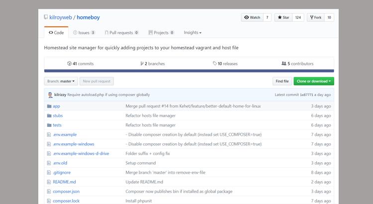Automatické přidání aplikace do Homestead pomocí Homeboy