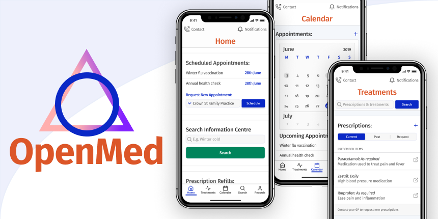 iOS App Design Concept: OpenMed Personal Medical Care Management