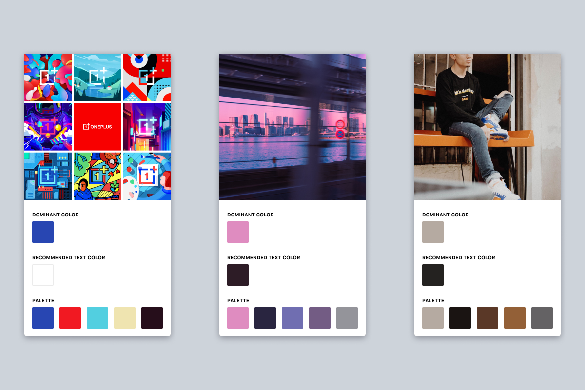 Dominant Color Toolkit, which I love for exploring different variations of colour palettes —and finding the perfect grey from a selection of different photos