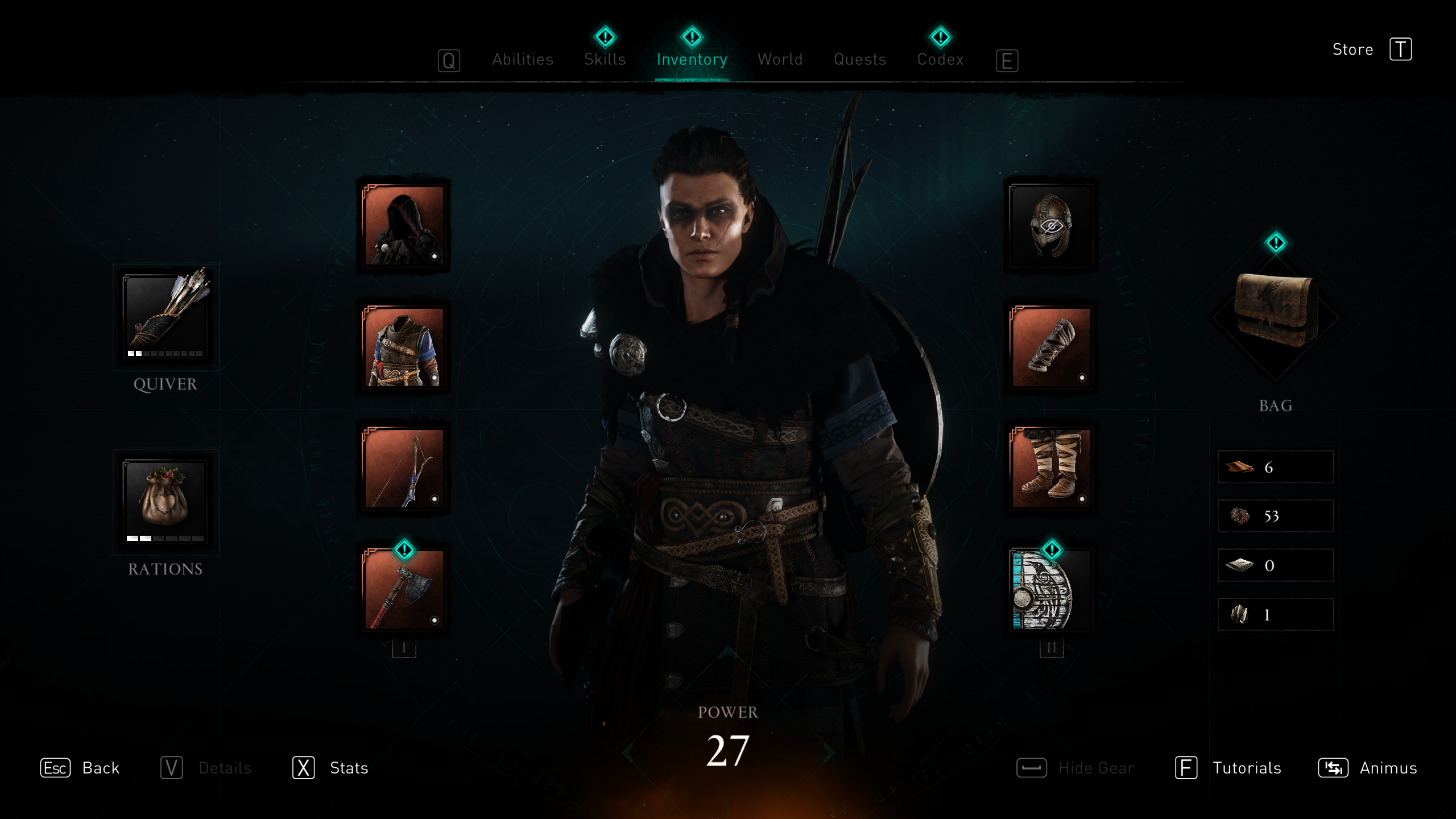 Character screen in Assassin's Creed Valhalla