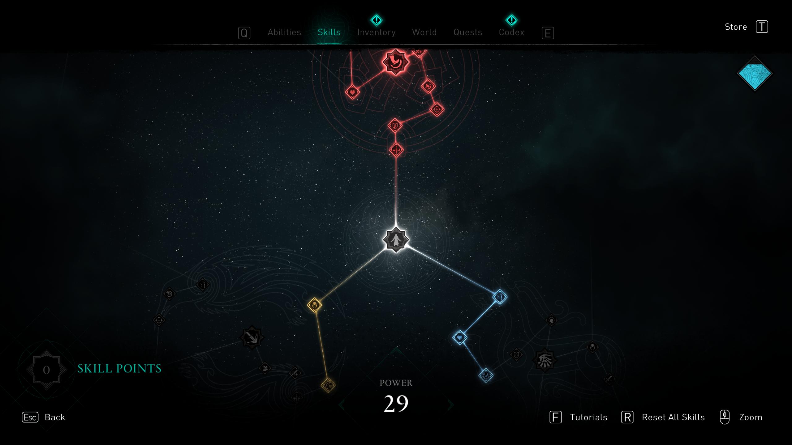 Skill tree in Assassin's Creed Valhalla
