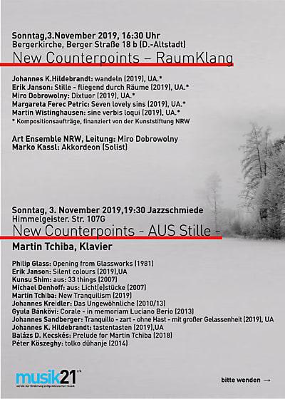 New Counterpoints – Aus Stille/Bassonor