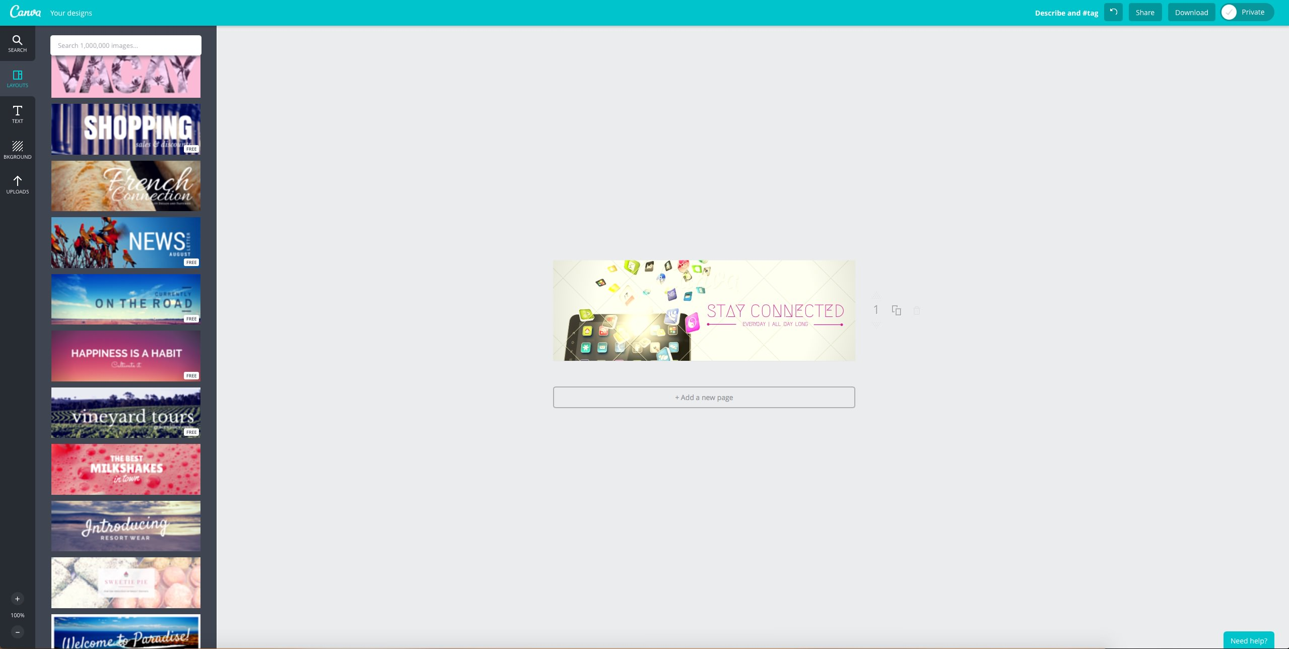 Canva E-Mail Header Design kostenlos