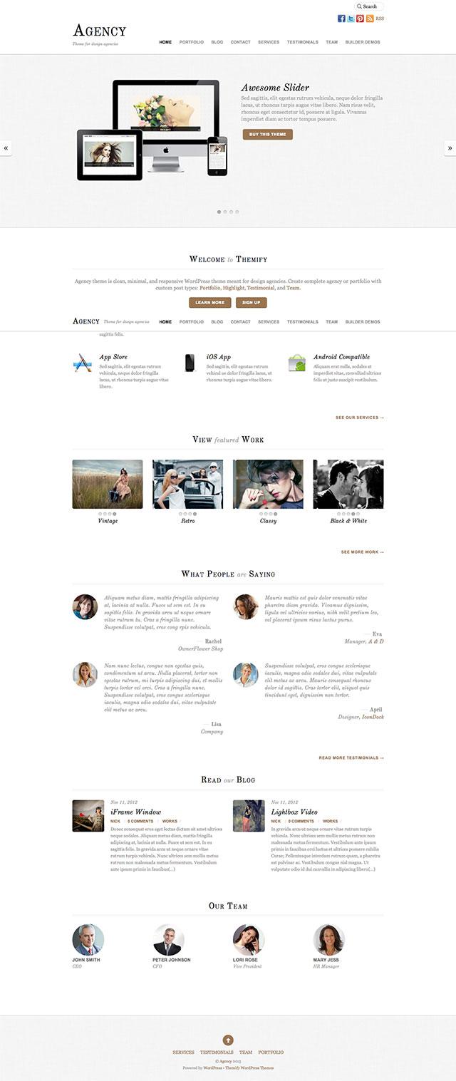 Moderne Webseiten für Firmen mit WordPress Theme Agency