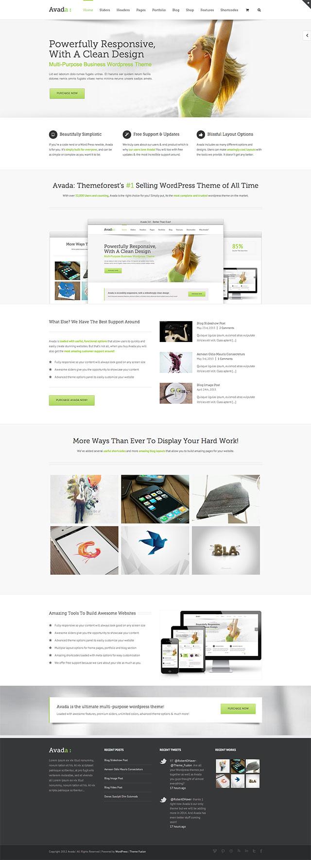 Moderne Webseiten für Firmen mit WordPress Theme Avada