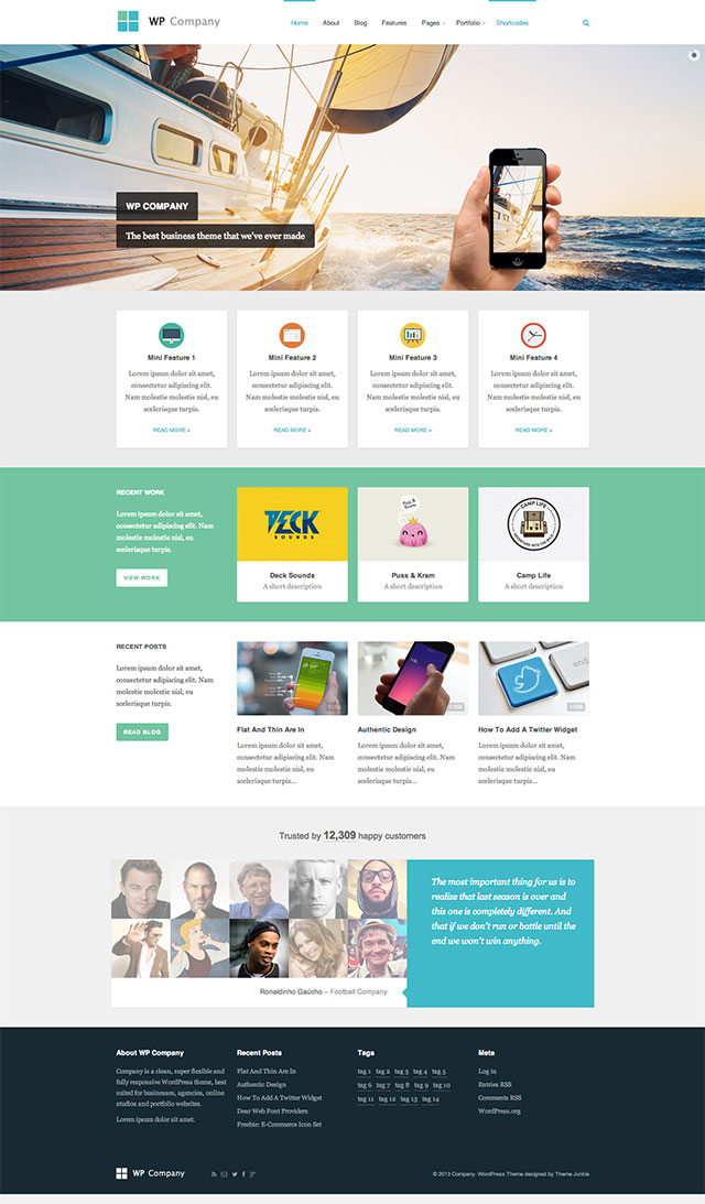 Moderne Webseiten für Firmen mit WordPress Theme Company