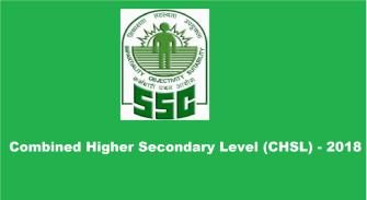 SSC Combined Higher Secondary Level (10+2 u2013 CHSL)