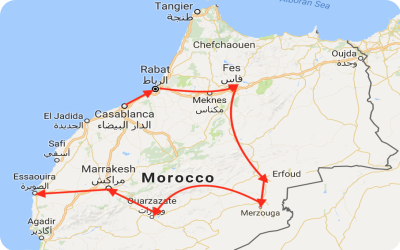 Exotic Morocco Tour Map