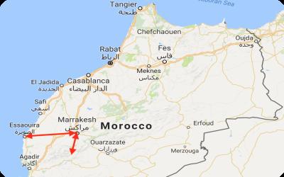 Taste of Morocco Tour Map